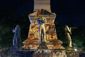 statue vandalism in the US