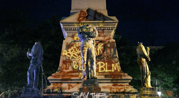 statue vandalism in the US